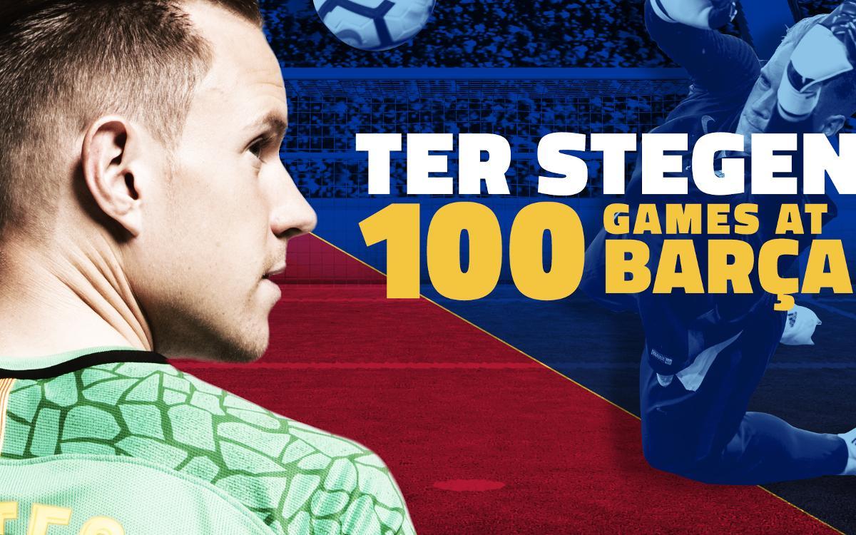 Marc-André ter Stegen reaches Barça century