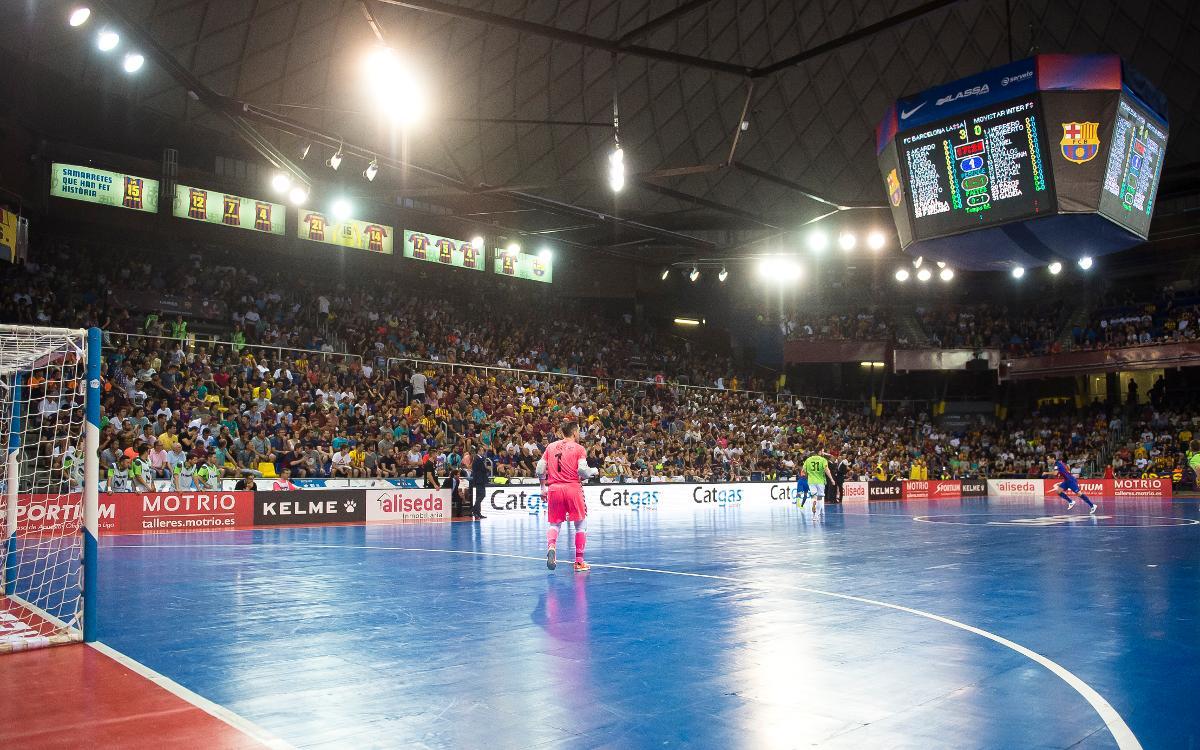 El futbol sala torna al Palau: reserva el teu seient!