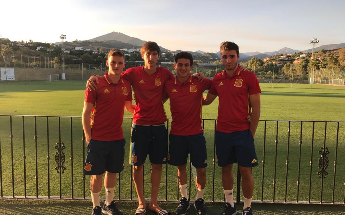Mate, Sergio Gómez, Miranda i Abel Ruiz, al Mundial sub-17