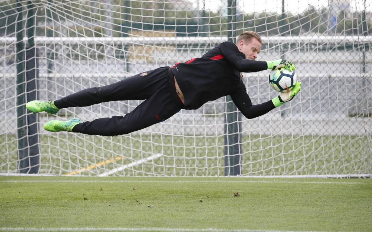 Ter Stegen back for Wednesday's session