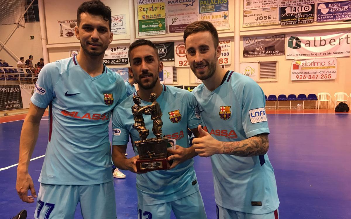 FS Valdepeñas-FC Barcelona Lassa: Victòria en l'homenatge a Joan Linares (0-7)