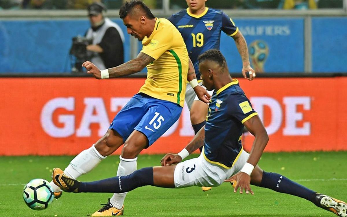 Paulinho, goleador con el Brasil