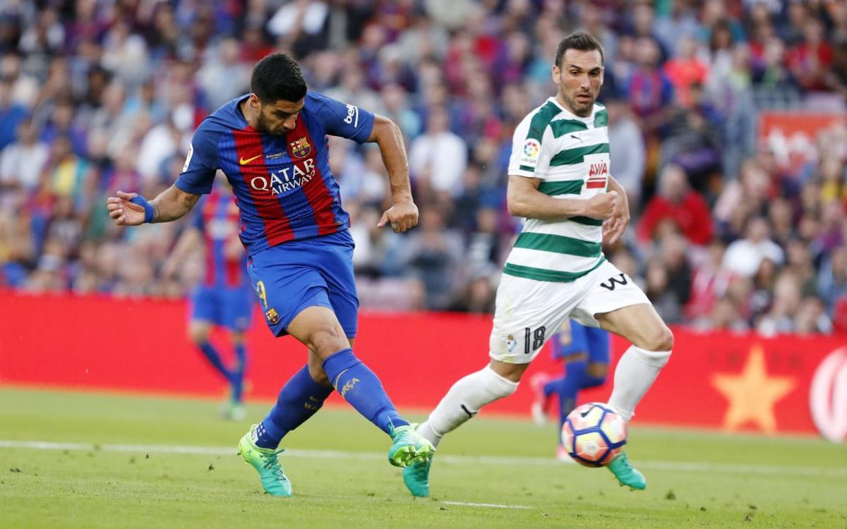 Barça-Eibar, sinònim de gols