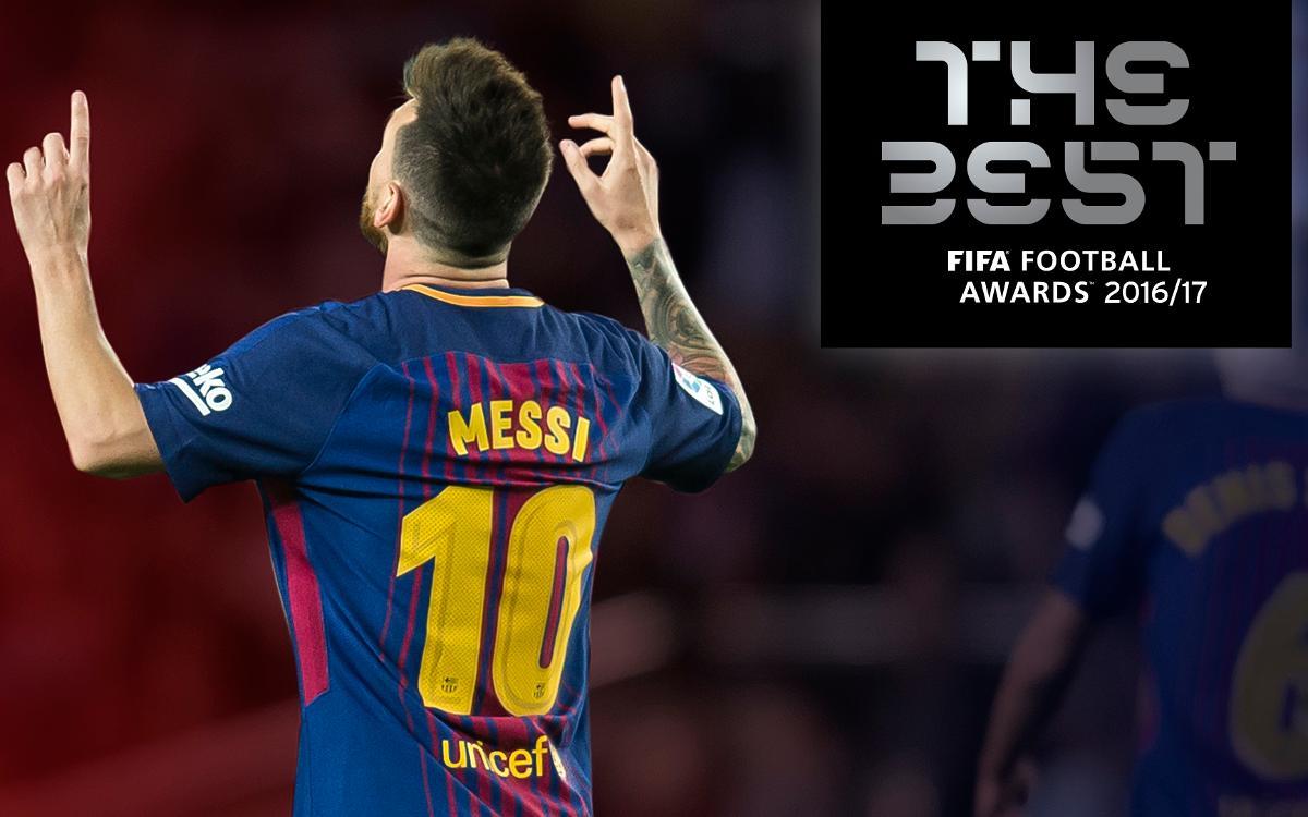 Leo Messi, entre els tres finalistes del premi 'The Best'
