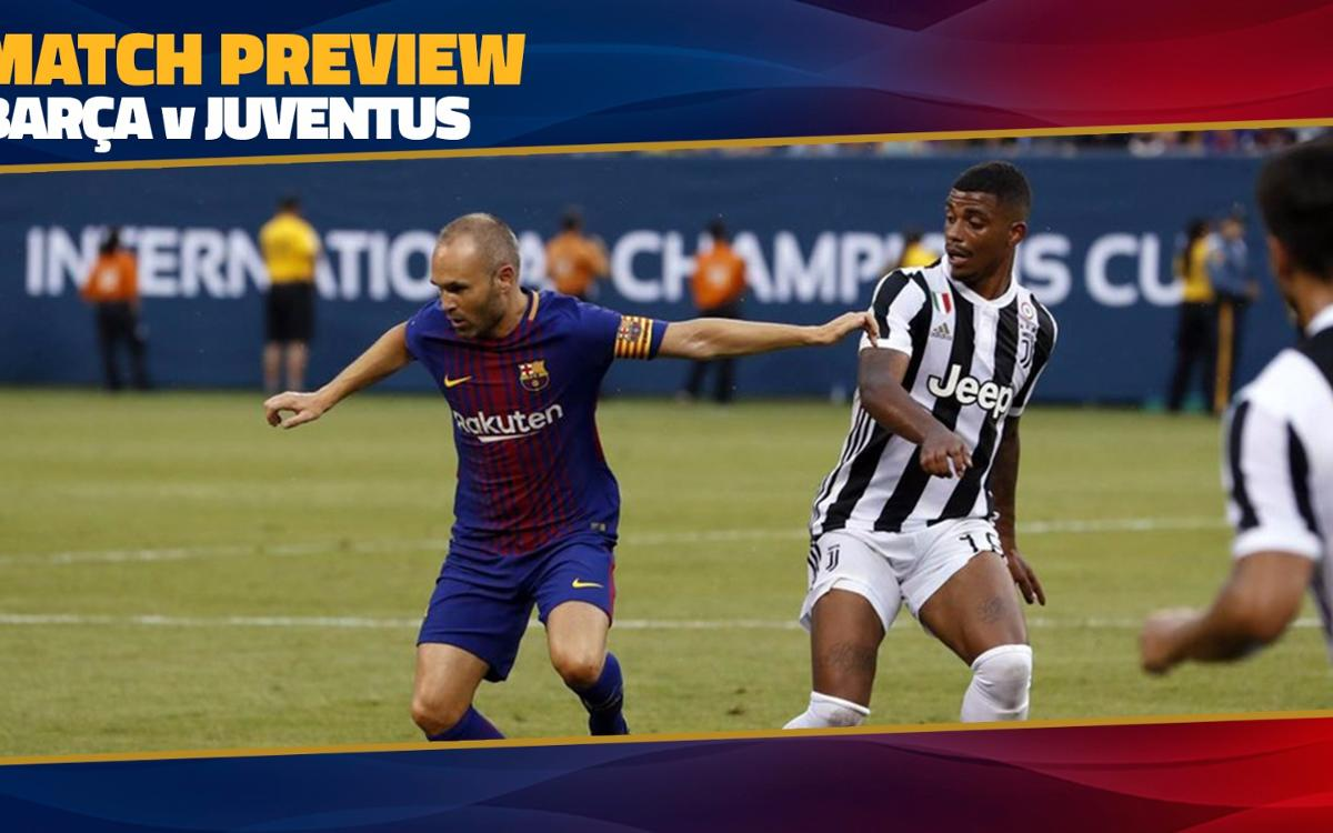 MATCH PREVIEW: FC Barcelona – Juventus (Tuesday 8.45pm CET)