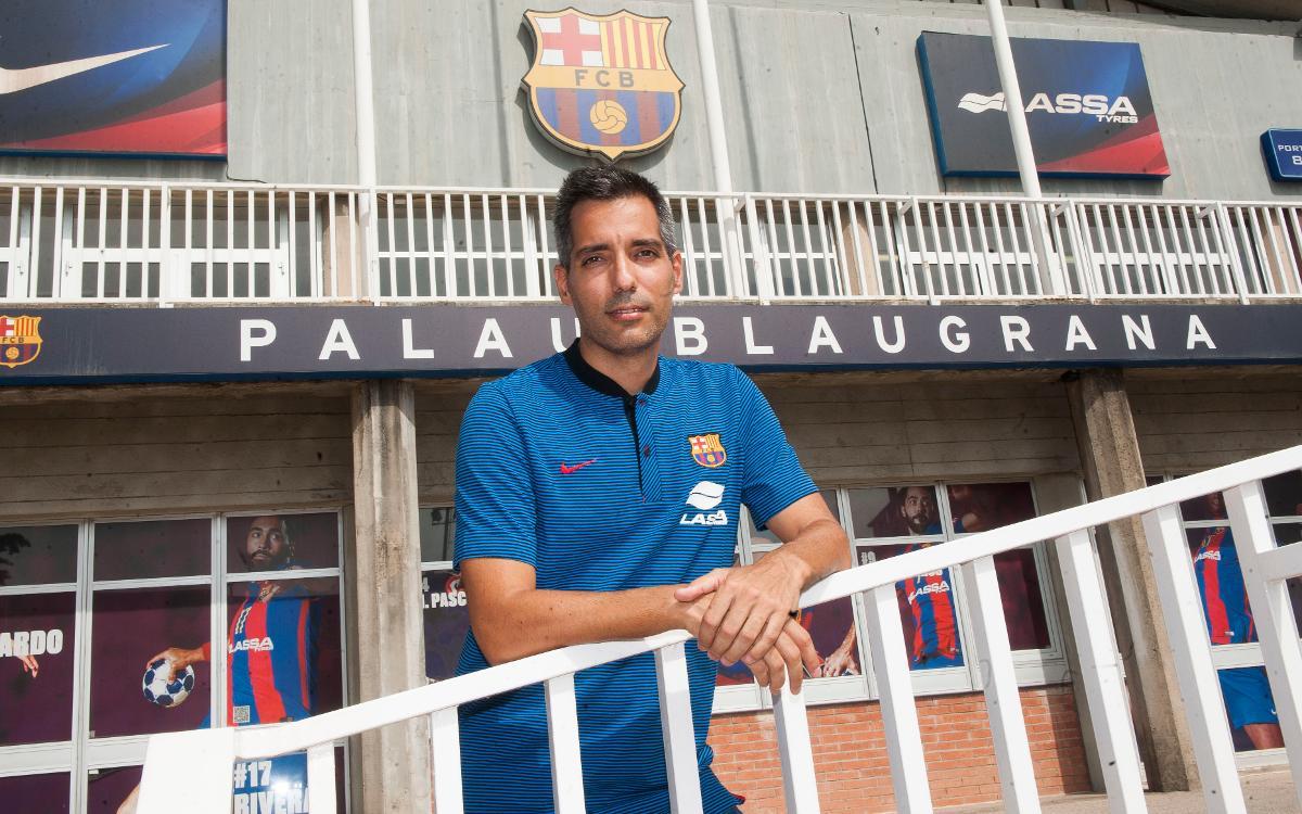 Guillem Pérez se incorpora al Barça Lassa como nuevo entrenador del equipo alevín