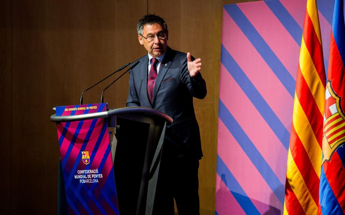 Josep Maria Bartomeu calls for an end to pessimism
