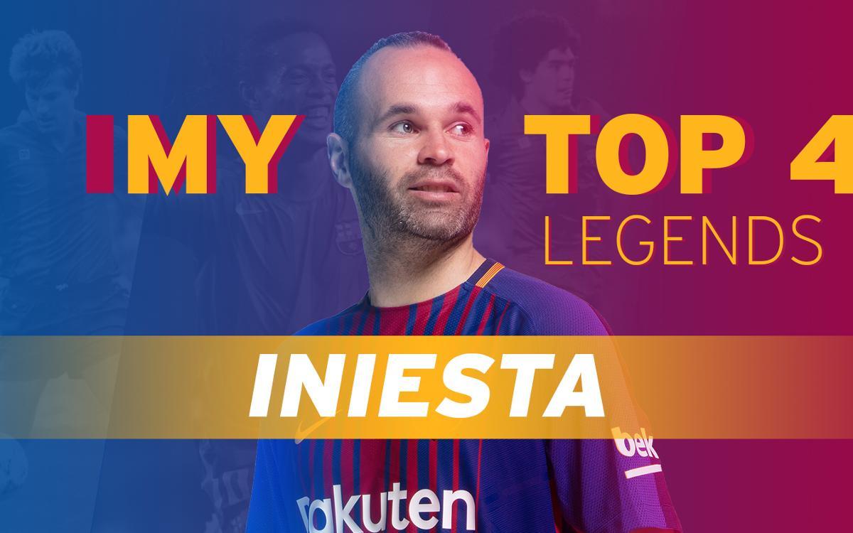 Top 4 legends: ¿Con quién le hubiera gustado jugar a Iniesta?