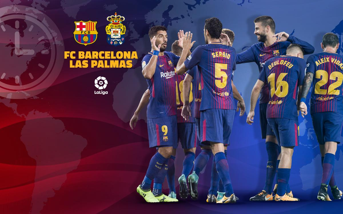 When and where to watch FC Barcelona - Las Palmas
