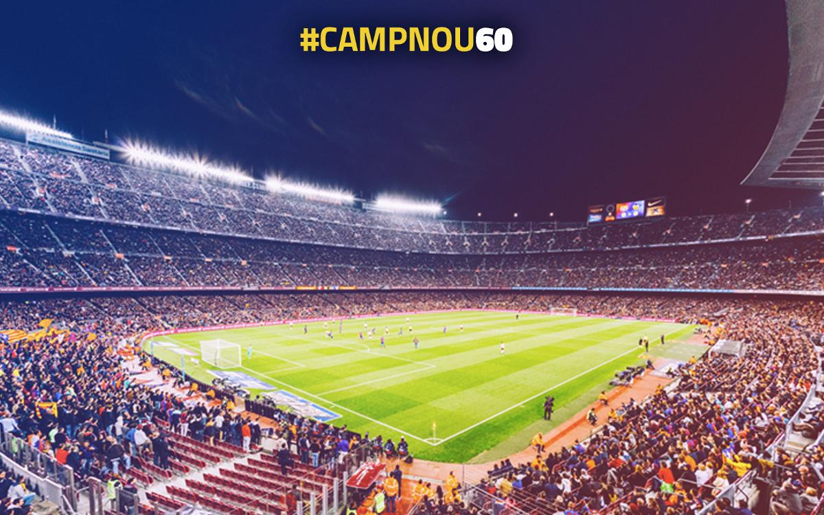 Participa a #CampNou60 i reviu moments inoblidables a l'Estadi