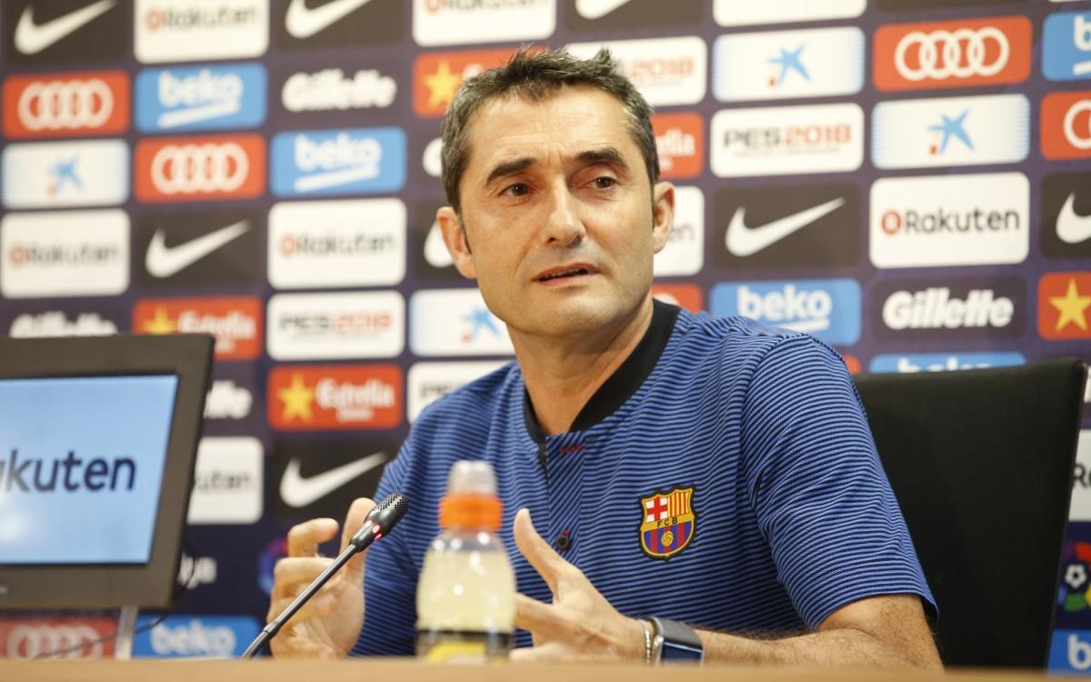 Ernesto Valverde: 'Playing against Espanyol motivates us'