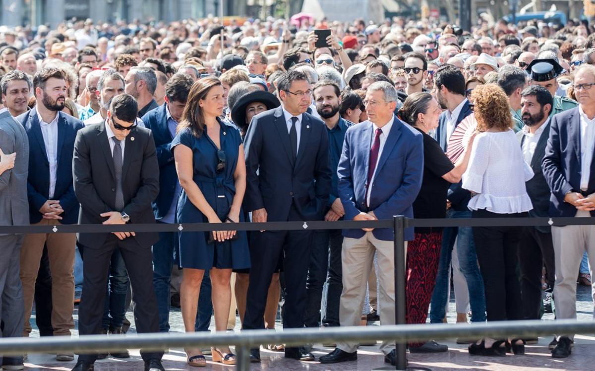 El FC Barcelona se suma al minuto de silencio por las víctimas del ataque terrorista