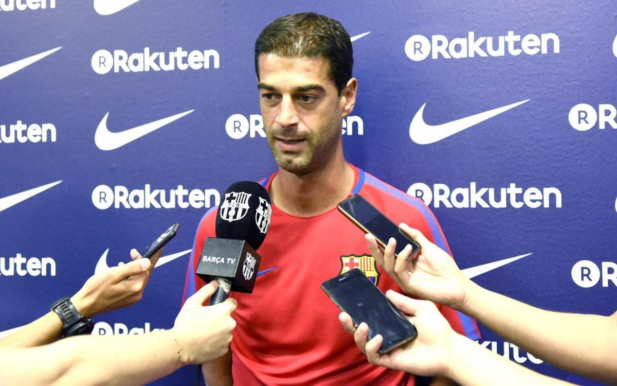 """Gerard López: """"Ens hem merescut estar al futbol professional, estem il·lusionats"""""""