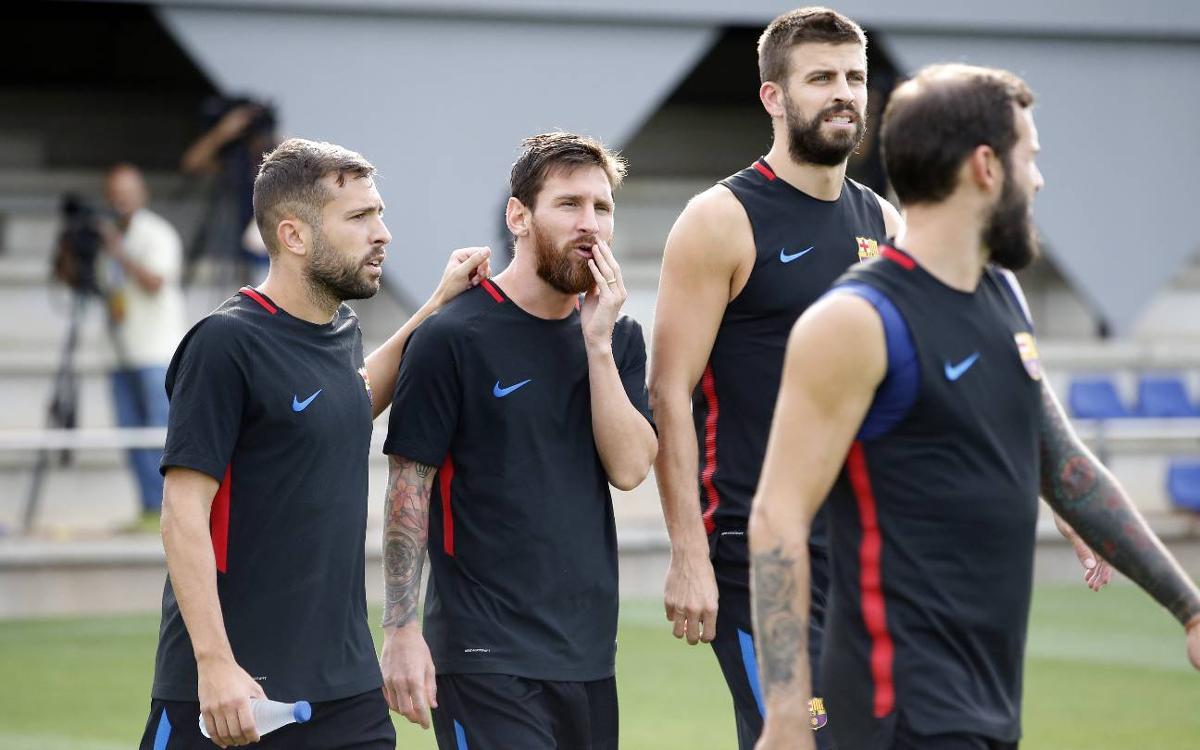 El pla d'entrenaments d'una setmana marcada per la segona jornada de la Lliga