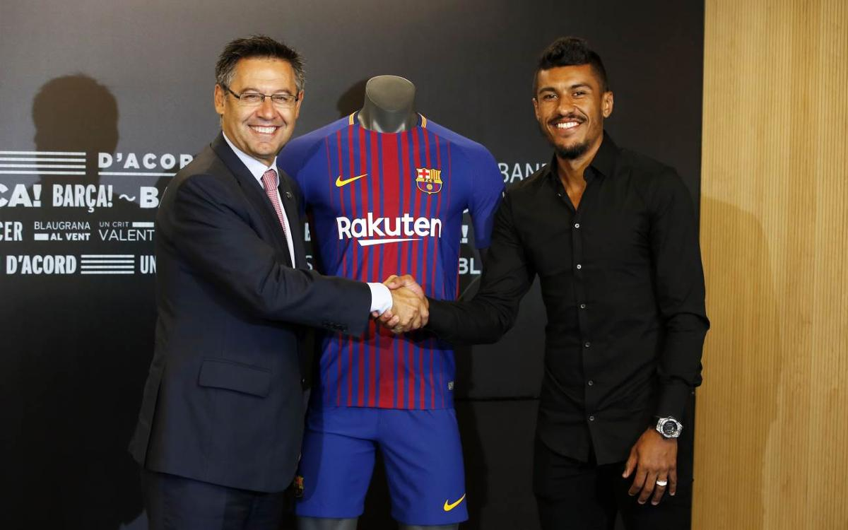 Paulinho's first day as an FC Barcelona player in 60 seconds