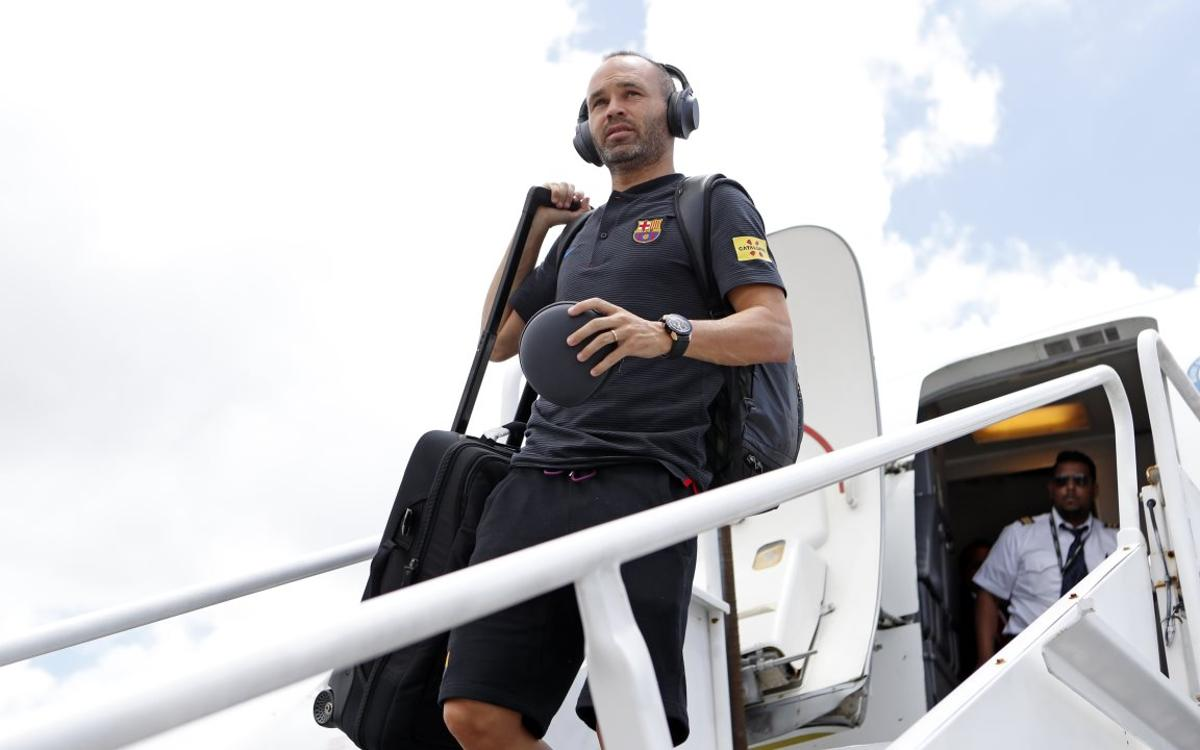 FC Barcelona arrive in Miami for final leg of US Tour