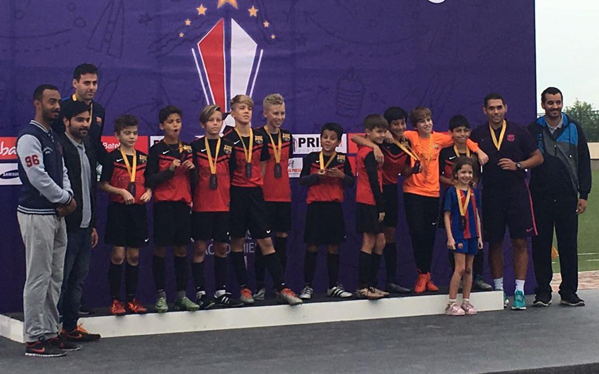 FCBEscolas from Dubai and Riyadh do FC Barcelona proud at Bahrein International Championship Academies