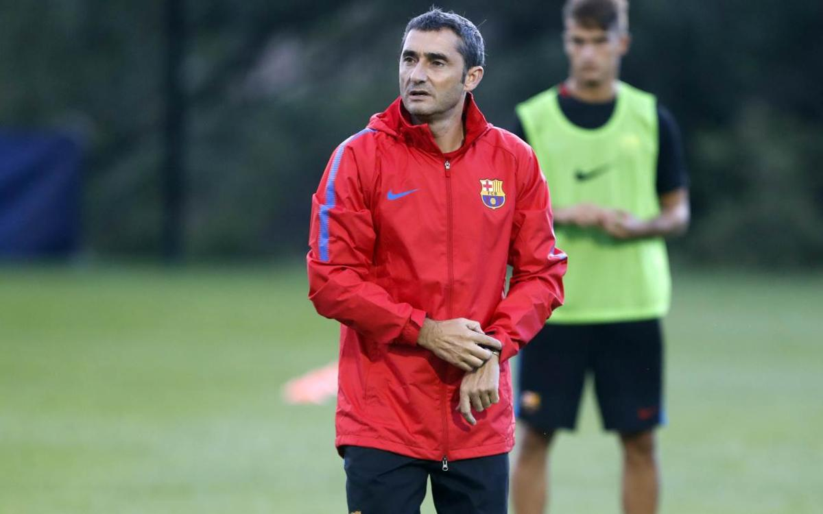 Barça's second Whippany workout of the day is the team's last in the NY area