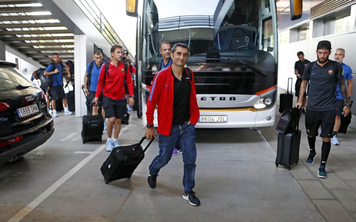 El FC Barcelona ja ha aterrat a l'aeroport d'El Prat