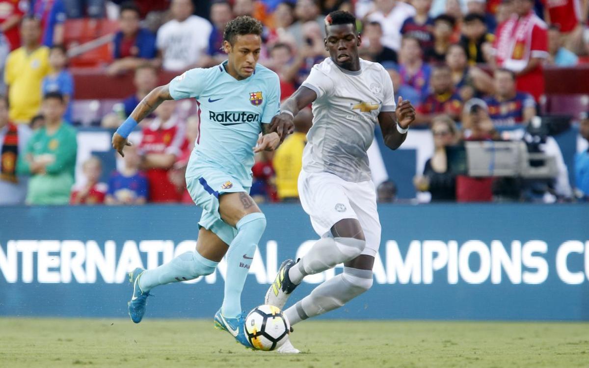 FC バルセロナ – マンチェスターユナイテッド: ネイマール弾が決めた勝利 (1-0)