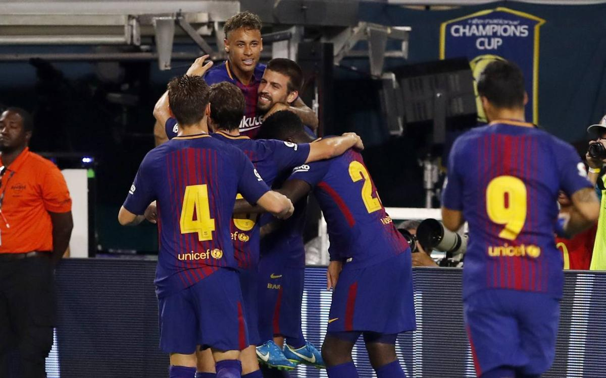 FC Barcelona win their first International Champions Cup with Neymar Jr as top scorer