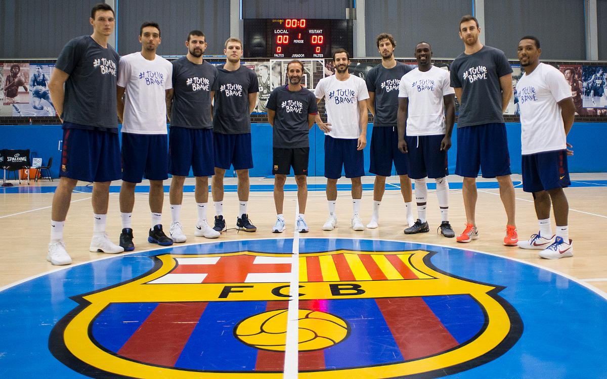 El Barça Lassa se une al movimiento solidario 'To the brave'