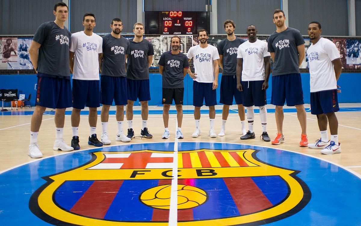 El Barça Lassa s'uneix al moviment solidari 'To the brave'