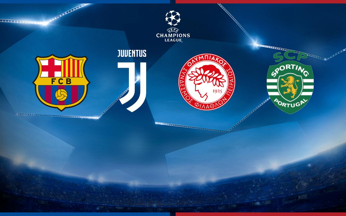 Juventus, Olympiacos and Sporting Lisbon, Barça's opponents in the 2017/18 Champions League group stage