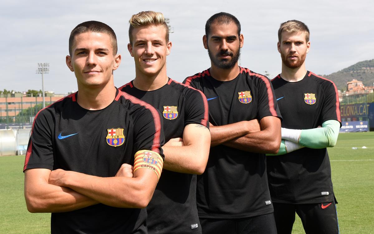 Palencia, Tarín, Fali i Ortolá, capitans del Barça B