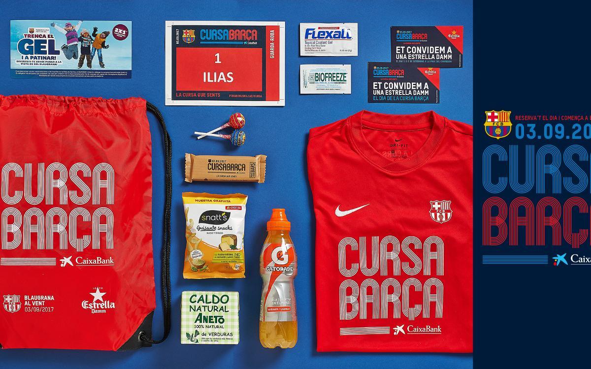 Els participants a la Cursa Barça 2017 rebran una bossa del corredor plena de regals i descomptes