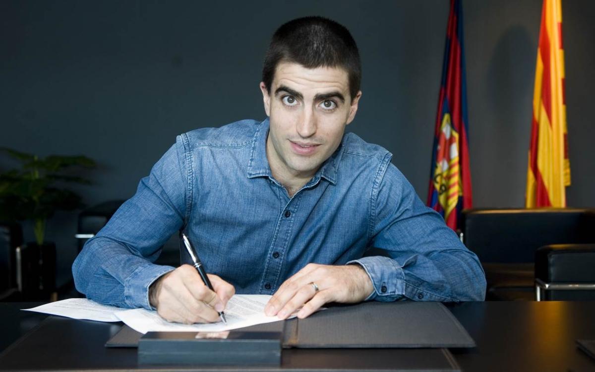 Marc Gual renova per una temporada amb el Barça Lassa