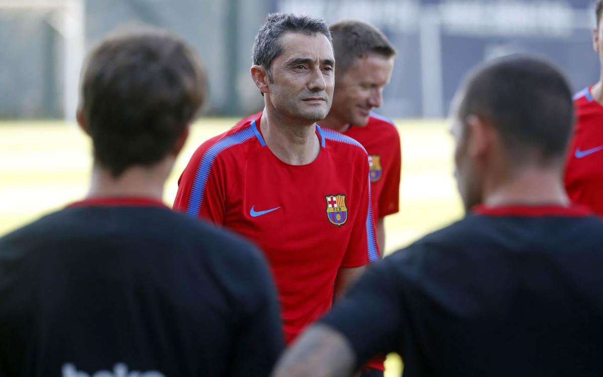 Double session on second day of training at the Ciutat Esportiva