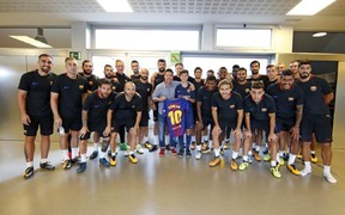 Youngster affected by La Rambla attack meets first team
