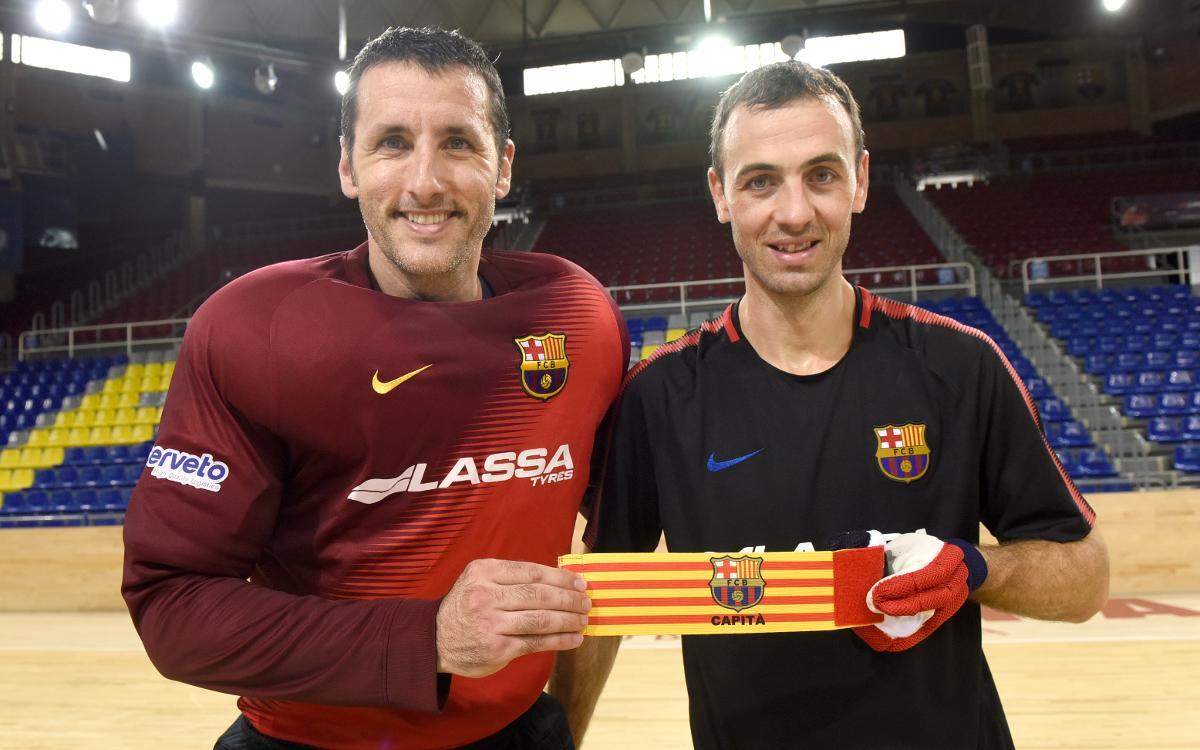 Aitor Egurrola y Sergi Panadero seguirán capitaneando el Barça Lassa de hockey