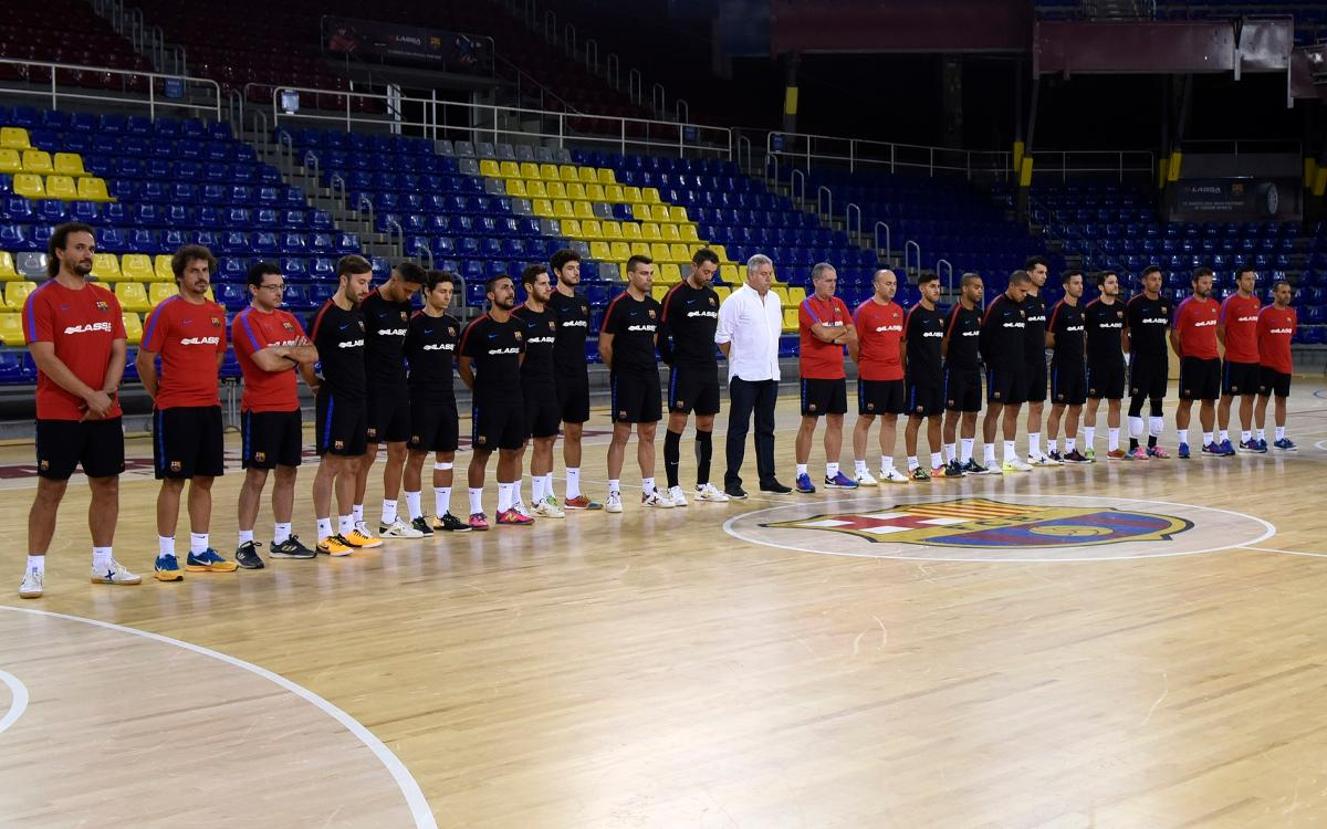 El Barça Lassa de fútbol sala expresa su pésame