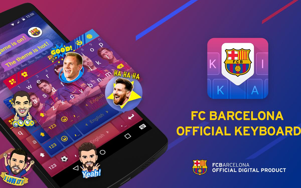 FC Barcelona Keyboard, a new mobile app