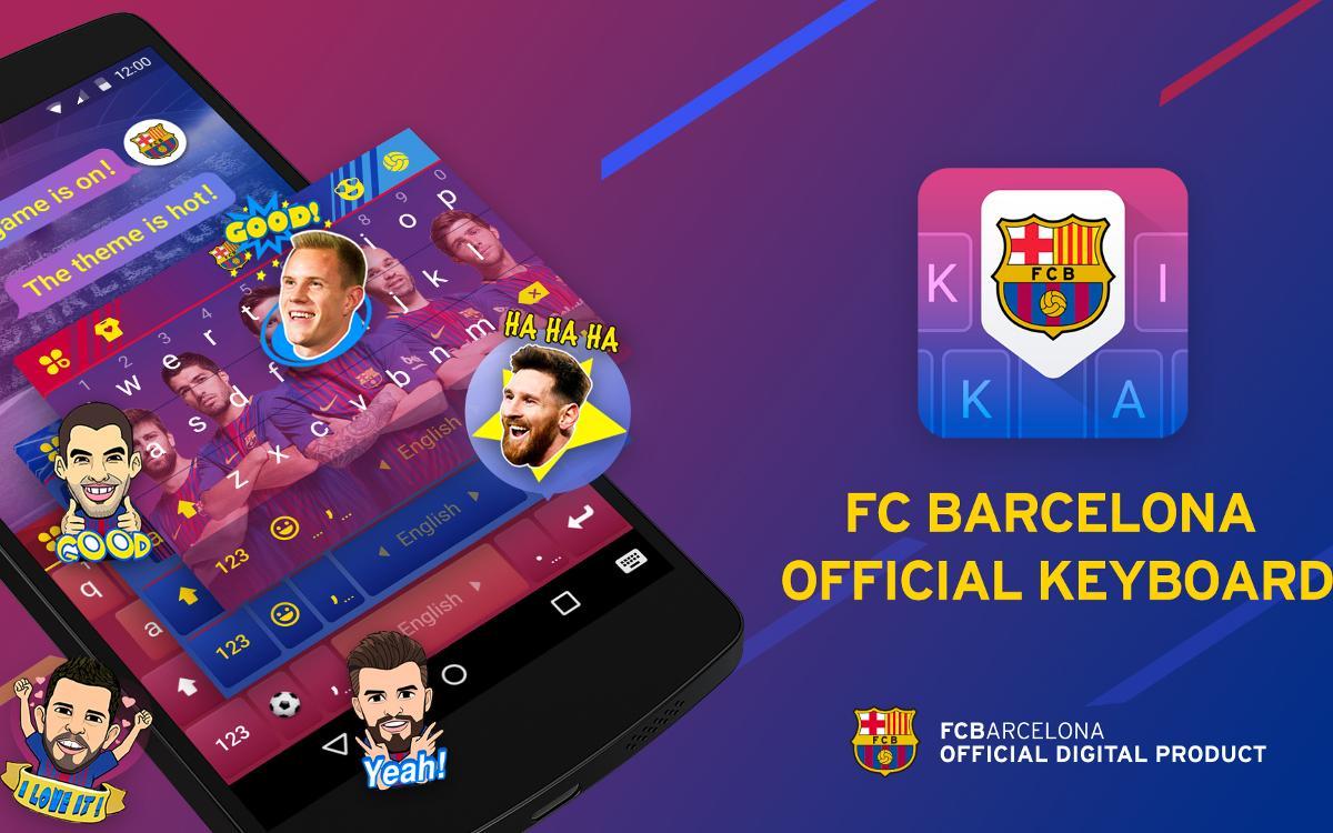 FC Barcelona Keyboard, la nueva aplicación de teclado para móvil