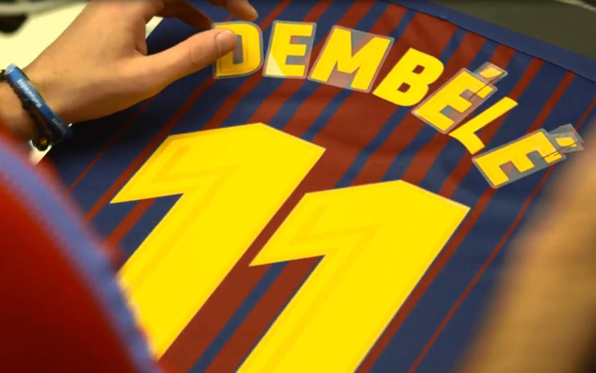 La presentación de Dembélé se podrá seguir en directo por streaming en BarçaVIDEO