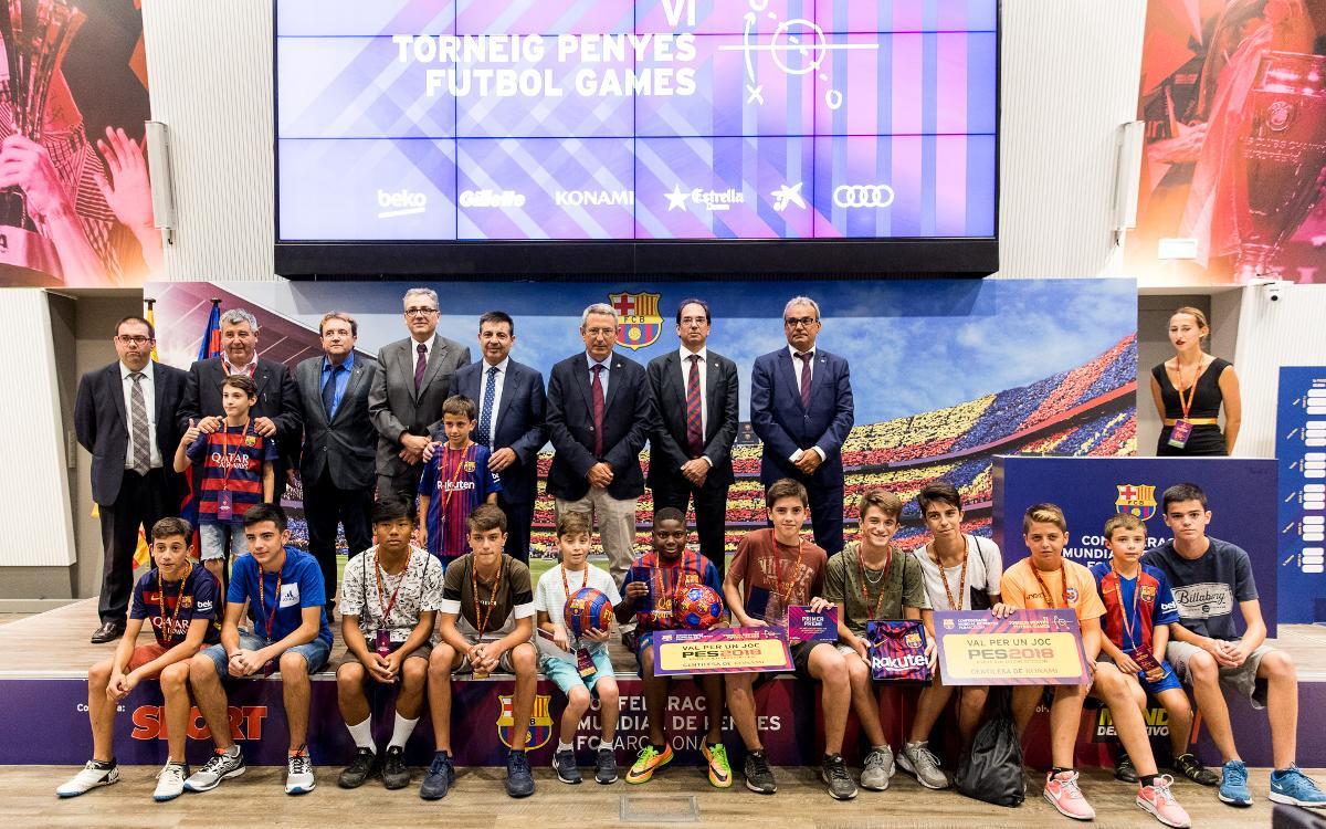 Una setenta de joves participen al Torneig Penyes Futbol Games