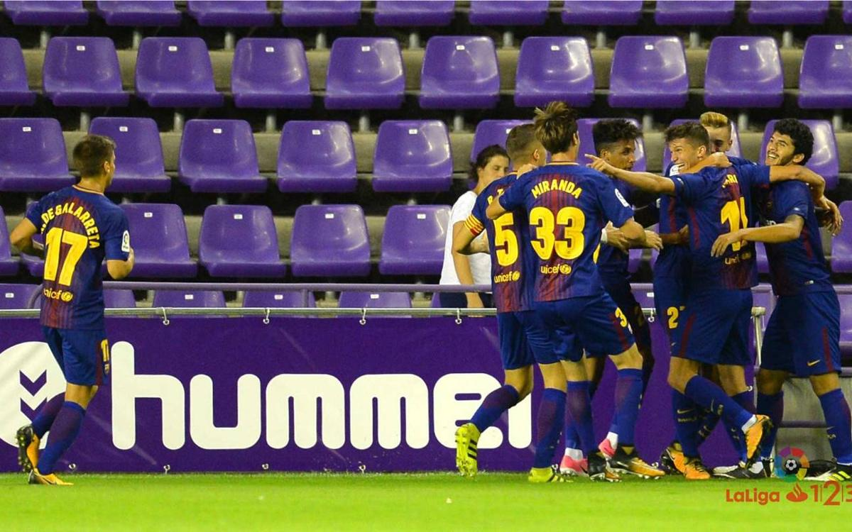 Real Valladolid v FC Barcelona B: Winning return (1-2)