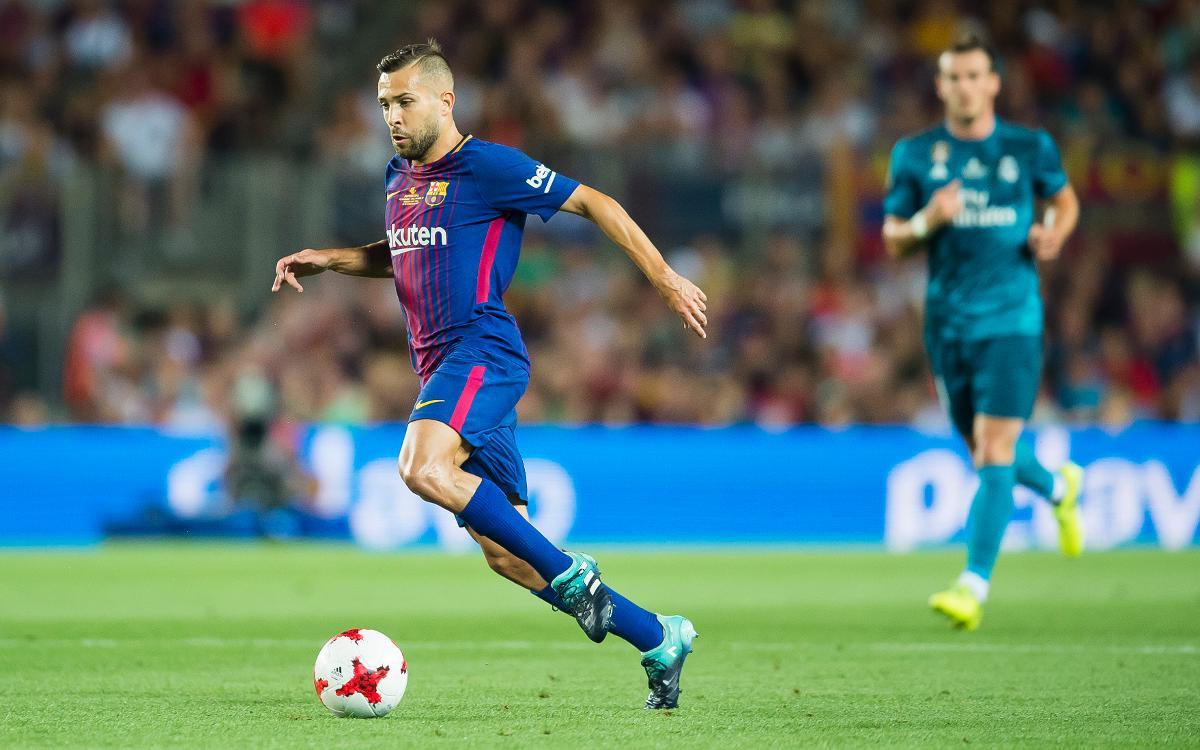 Jordi Alba, a un partido de los 200 oficiales con el FC Barcelona