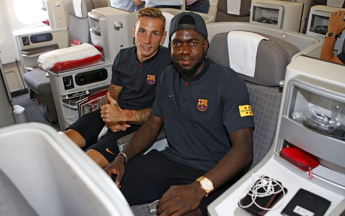 Umtiti and Digne welcome Dembélé