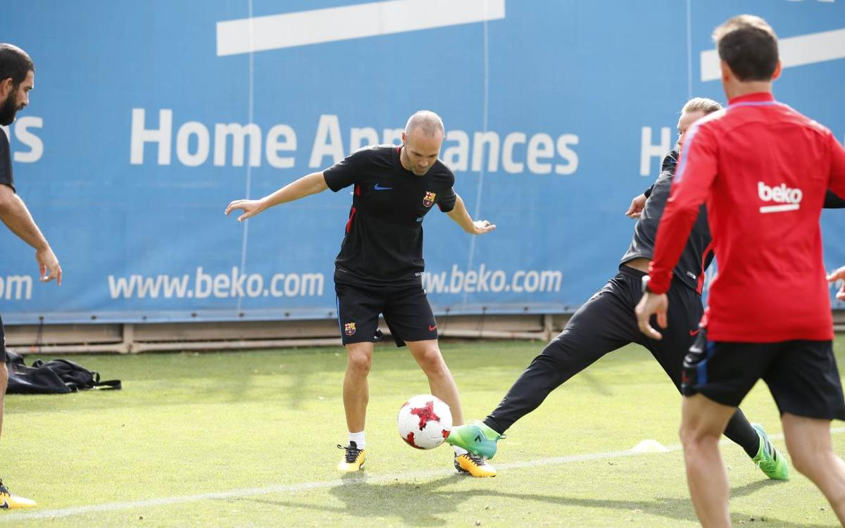 Barça complete their third training session of the week