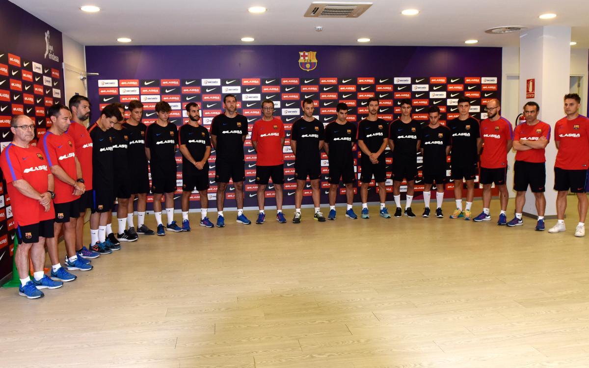 El Barça Lassa de hockey patines se suma a las muestras de condolencia por los atentados de Barcelona