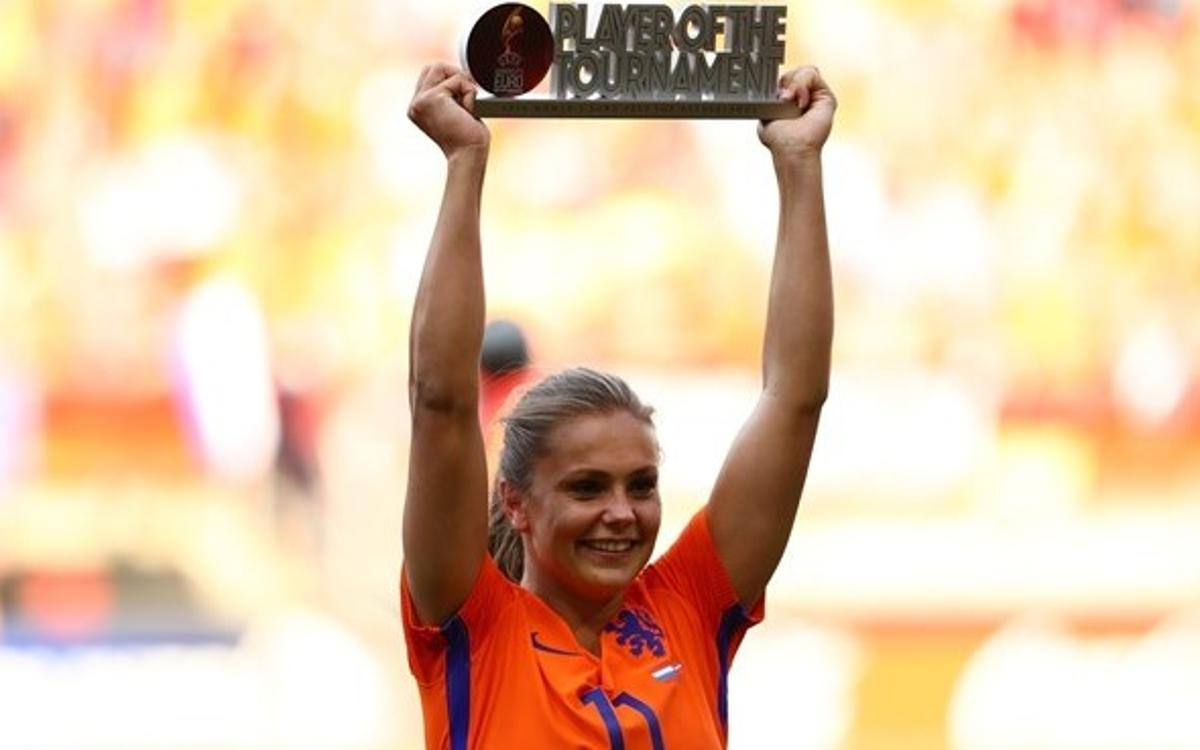 Lieke Martens, European champion and tournament MVP