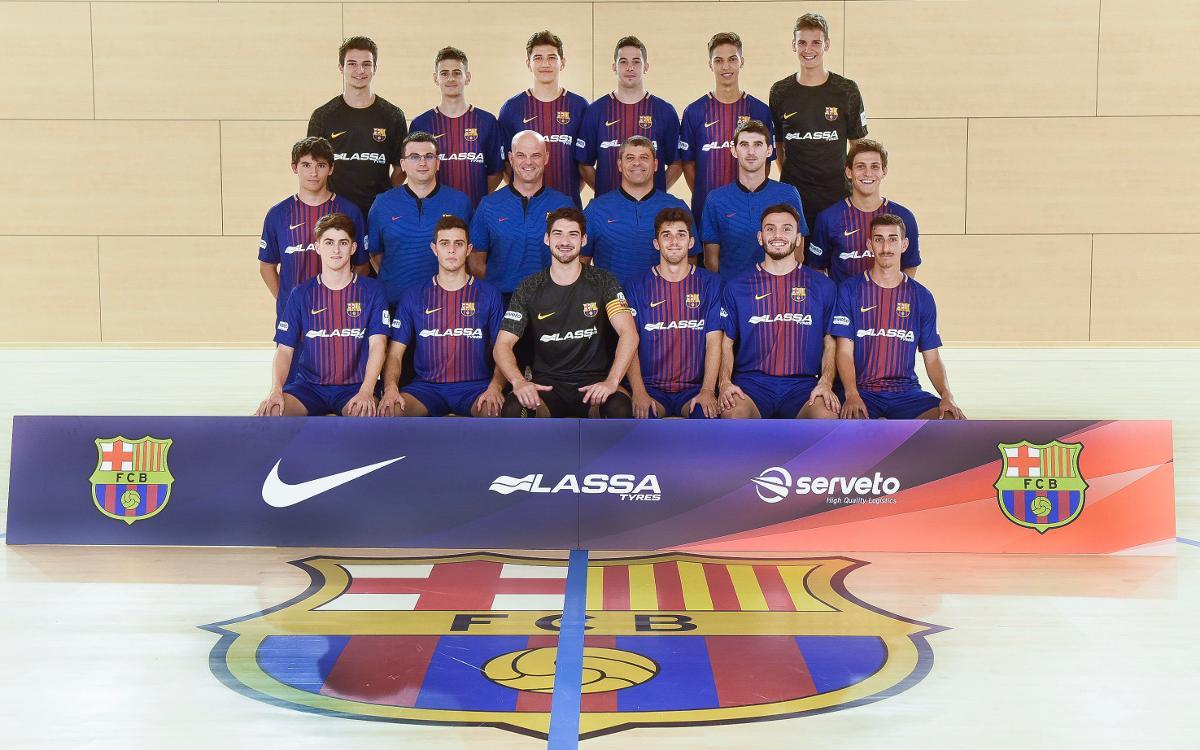 Foto oficial del Barça B de futbol sala