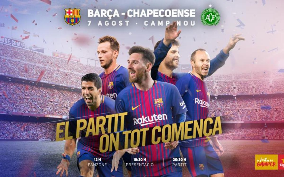 Festa familiar al Camp Nou amb motiu del Trofeu Joan Gamper