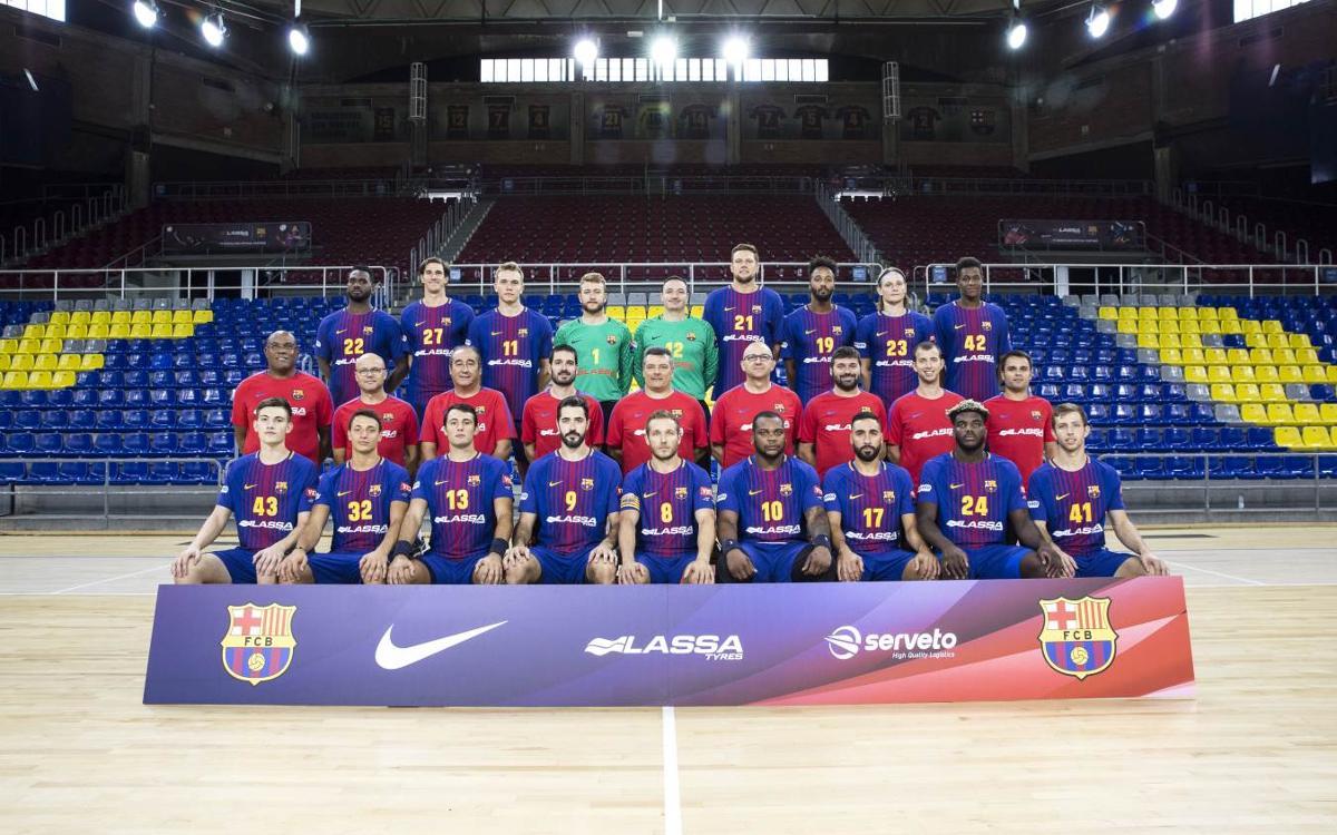 Sesión de fotos para el Barça Lassa