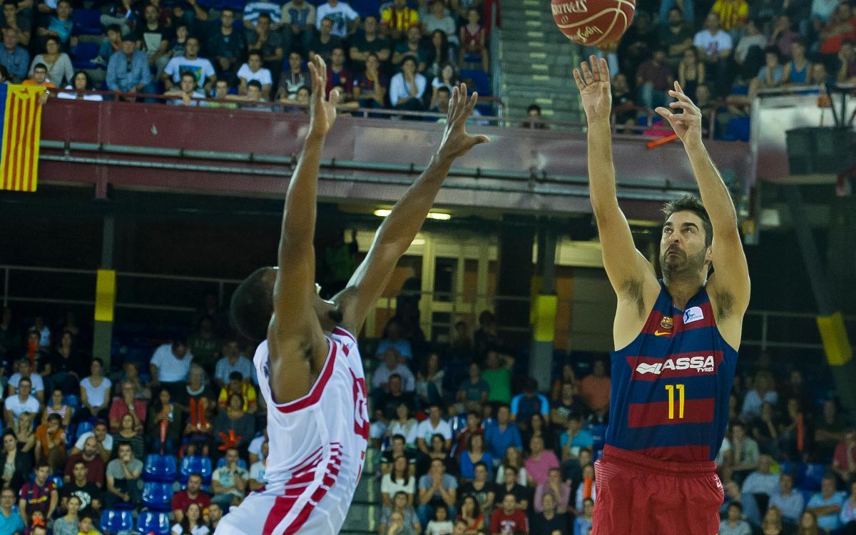 Juan Carlos Navarro y Pierre Oriola, en el Eurobasket 2017