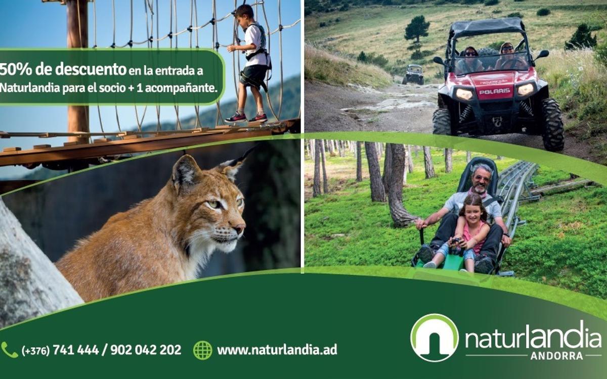 50% de descuento en Naturlandia para los socios
